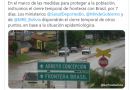 Cierre de frontera con Brasil